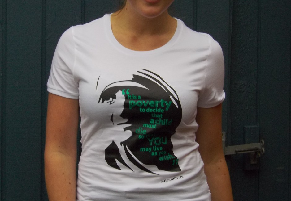 T-shirt: 'Mother Teresa' (rund hals)