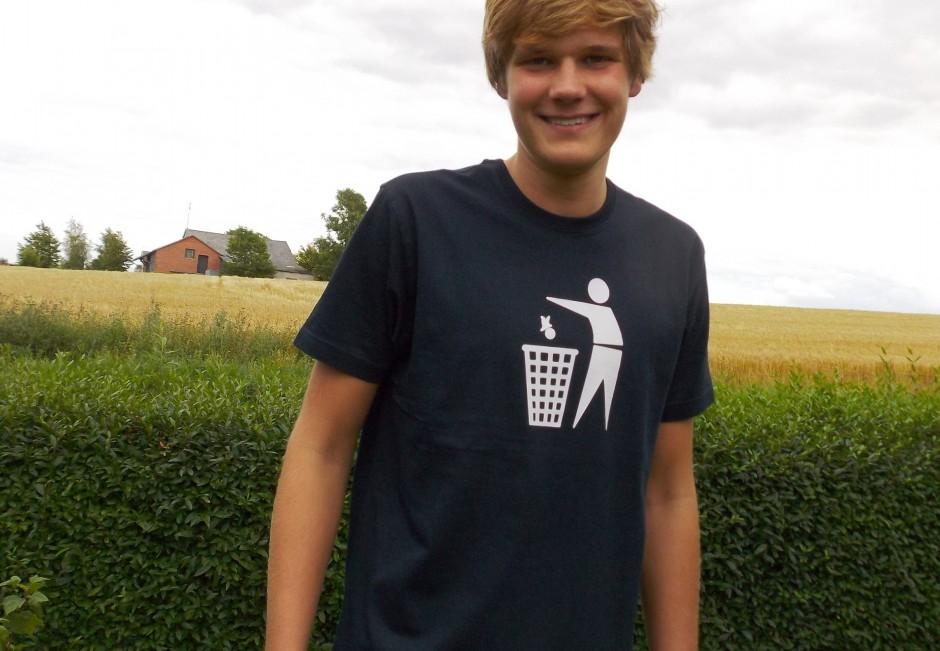 T-shirt: Pictogram (sort)