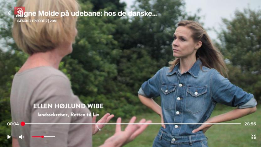 Signe Molde besøger Retten til Liv