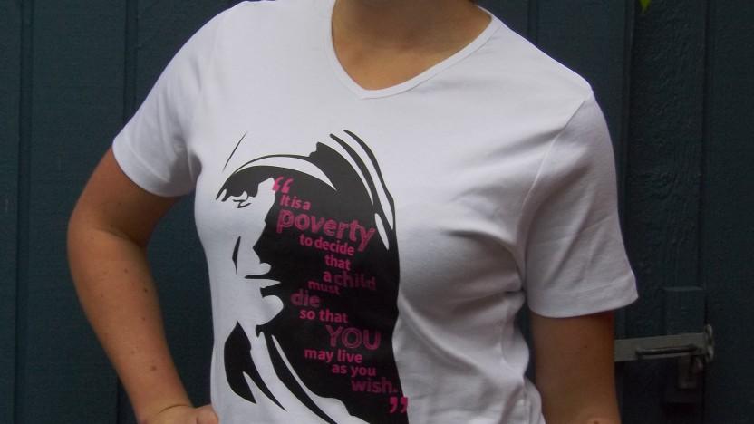 T-shirt med et budskab