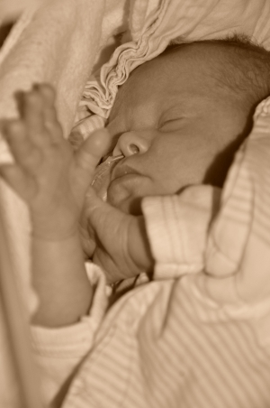 Rebecca som nyfødt