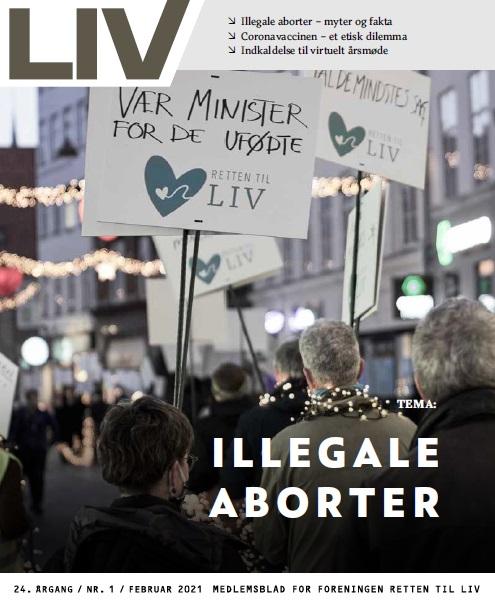 Retten til Livs medlemsblad LIV februar 2021